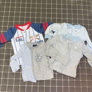 Set of 4- 0-3 month onesies